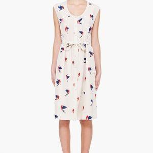 Marc Jacobs silk bird Finch Print Dress Print M